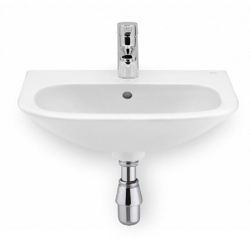Roca Nexo Round Cloakroom Basin - 450mm - 1 Tap Hole - White